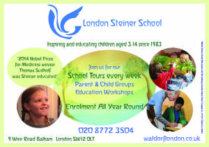 Advert for Green parent steiner page